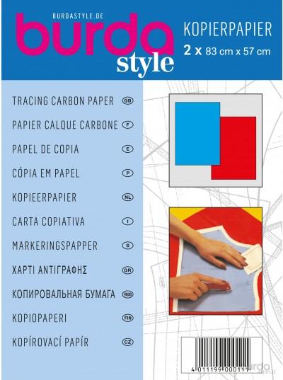 Carta copiativa blu e rossa