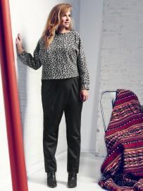 Pantaloni con drappeggio