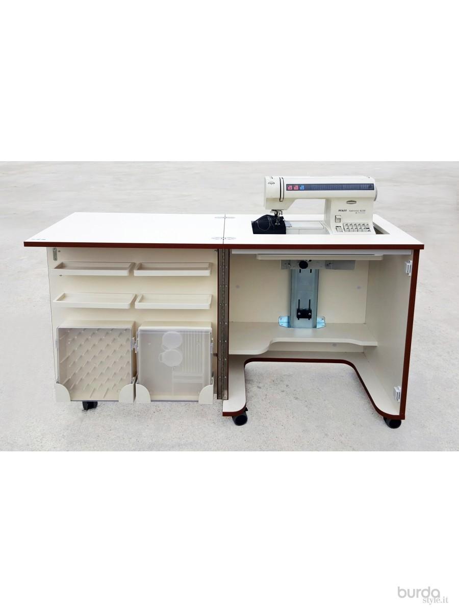 Mobile per il cucito il mondo dei cartamodelli e del cucito - Tavolo con macchina da cucire ...