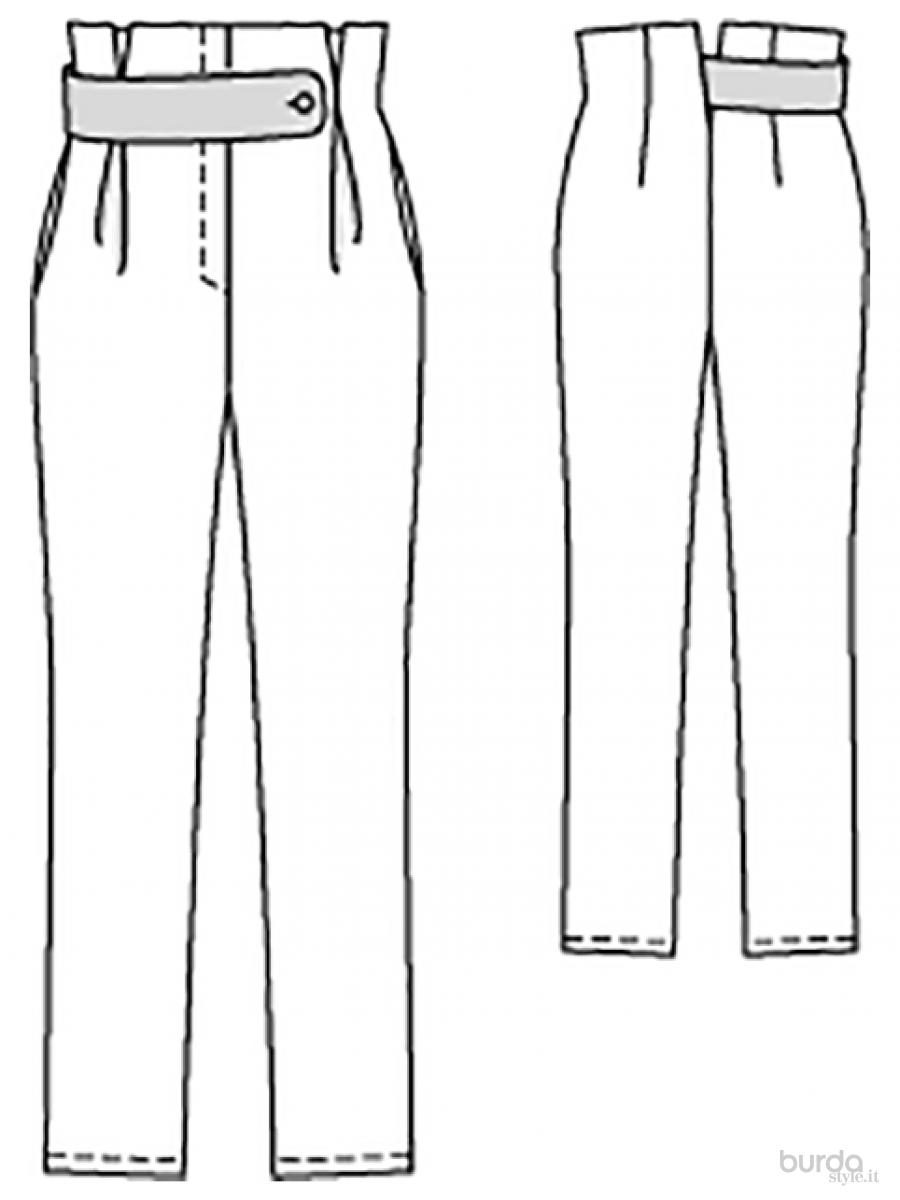 Molto Pantaloni a vita alta Il mondo dei cartamodelli e del cucito CA07