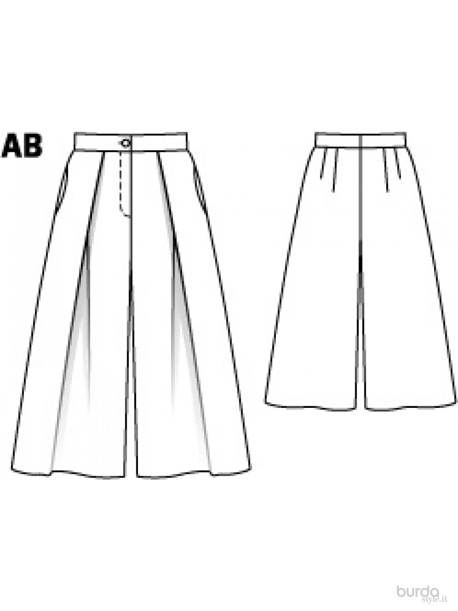 Top Gonna-pantalone ampia Il mondo dei cartamodelli e del cucito VR16