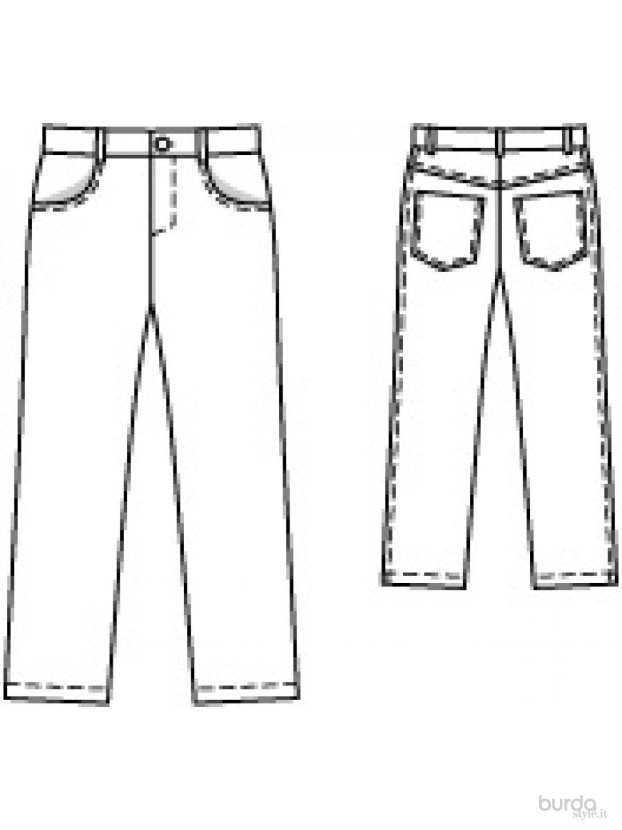 abbastanza Pantaloni taglio jeans Il mondo dei cartamodelli e del cucito AS39