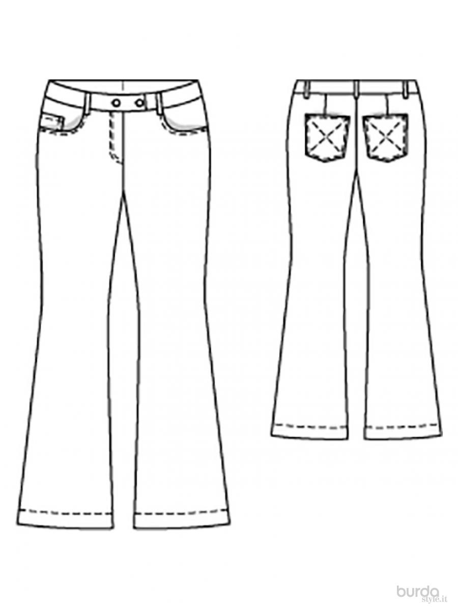 Molto Pantaloni a zampa Il mondo dei cartamodelli e del cucito RH39