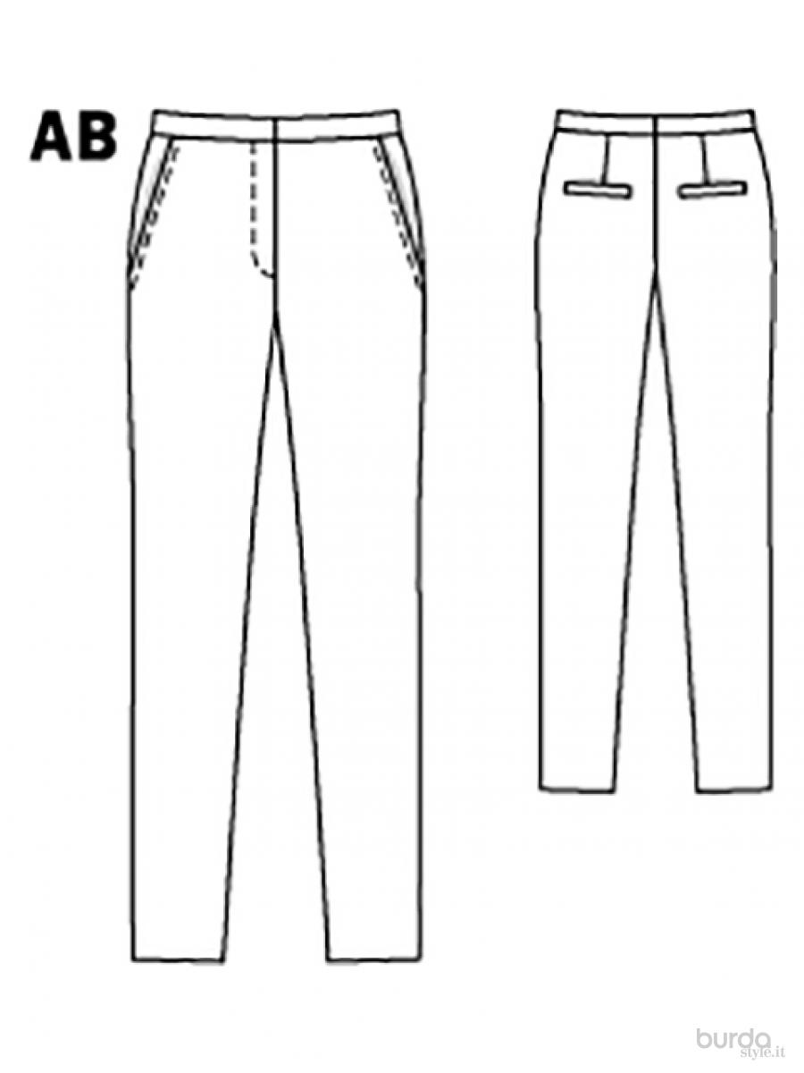 Famoso Pantaloni a sigaretta Il mondo dei cartamodelli e del cucito SX61