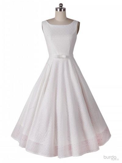 Hepburn Style White Dress
