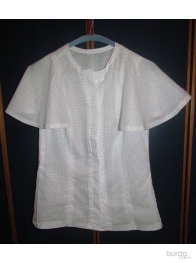 Camicia con maniche ad aletta