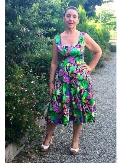 Vestito a fiori anni 50