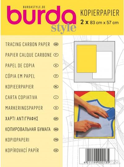 Carta copiativa bianca e gialla