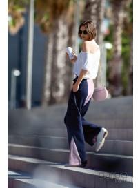 Pantaloni color blocking