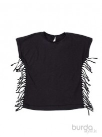 Shirt con frange laterali